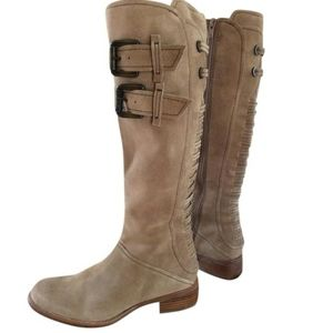 Apepazzo tall tan suede boots size 10 M